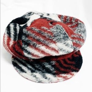 Platania Italian made wool hat red/black/gray